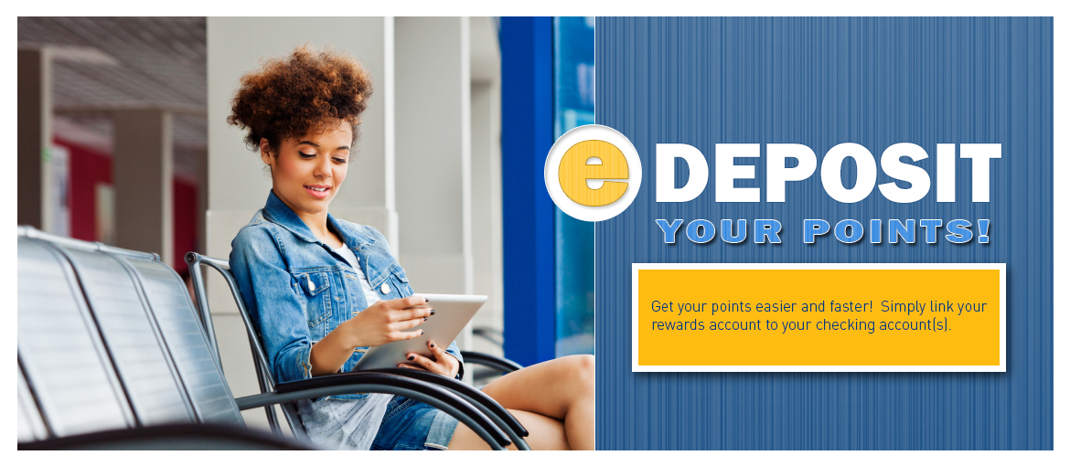 Thank you for using your debit card!  Redeeming your points is easy! Create an account today, browse the site and start redeeming your points for great gifts.