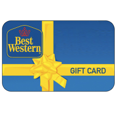 BEST WESTERN<sup>&reg;</sup> $100 Gift Card - Whether you're off to the beach, visiting family, or looking for some adventure, this $100 gift card can be used at any of the more than 4,200 Best Western hotels worldwide.