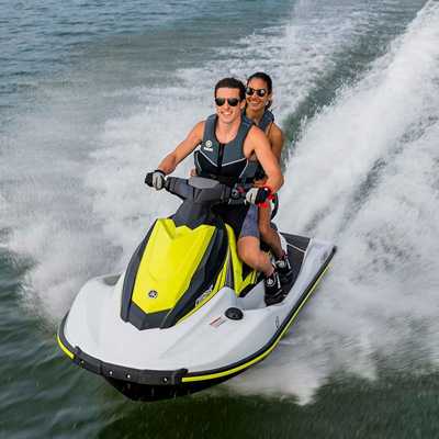 YAMAHA<sup>&reg;</sup> EX Rec-Lite - Enjoy the water on this fun ride!  Features include dry weight of 578 lbs, a seating capacity of 1-3 people, fuel capacity of 13.2 gallons, and 3-cylinder, 4-stroke TR-1 Yamaha<sup>&reg;</sup> Marine engine.